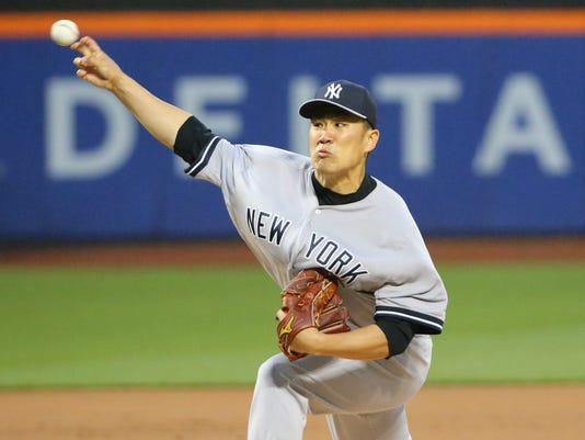 Yankees Masahiro Tanaka at Mets 2014