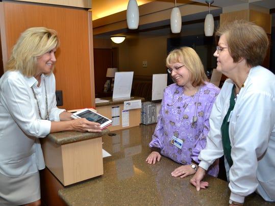 Barb Hendrickson with nurses Erica Miloser and Sylvia Bettner.jpg