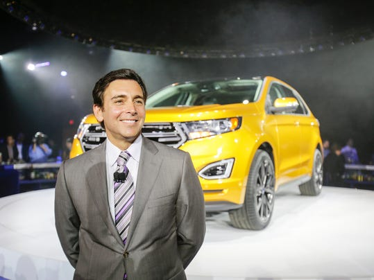 Ford CEO Mark Fields during their reveal of the 2015 Ford Edge on June