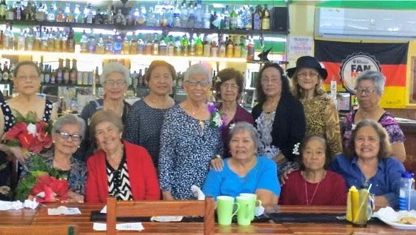 The Island-wide Class of 1956 held its luncheon at McKrauts in Malojloj on May 17, 2018.  Seated from left: Blas Perez, Antonina Perez, Acha Tajalle, Julia Villagomez, Myrna San Nicolas, Felisa Honorario, and Terry M. Paulino. Standing from left: Joe Alig, Cecilia Shaw, Patricia Diaz, Terry C. Paulino, Jovie Mejorada, Mae Paulino, Terry Arriola, Connie Cruz, and Ramona Castro.
