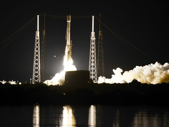 A SpaceX Falcon 9 rocket lifts off from Cape Canaveral Air Force Station on  September 7