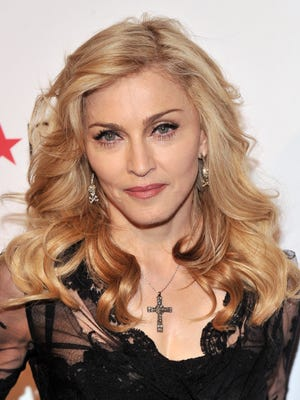 Madonna pictured on April 12, 2012 in New York City.