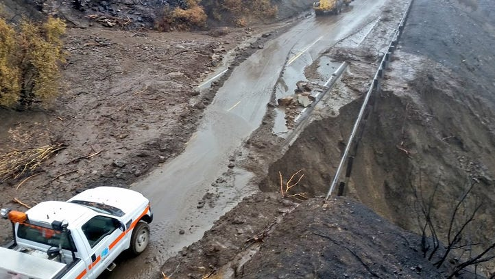 Storm-damaged Highway 33 to stay closed for weeks