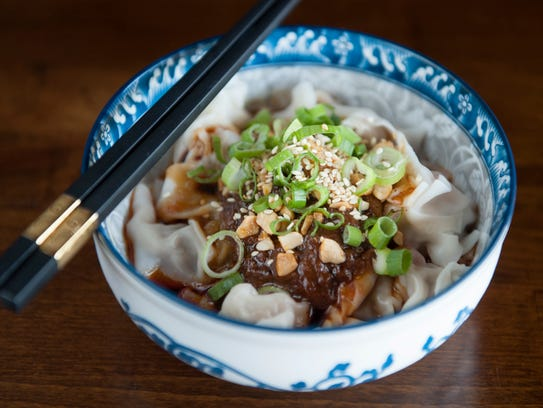 A delicate dish, Seven Flavor Wonton is served at Taste of Szechuan in Cherry Hill.