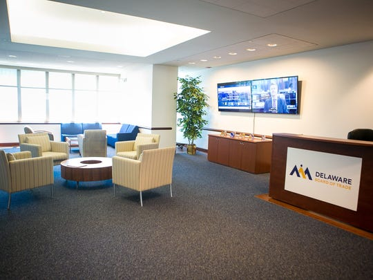The principals of the Delaware Board of Trade inside their offices in the Hercules Plaza.