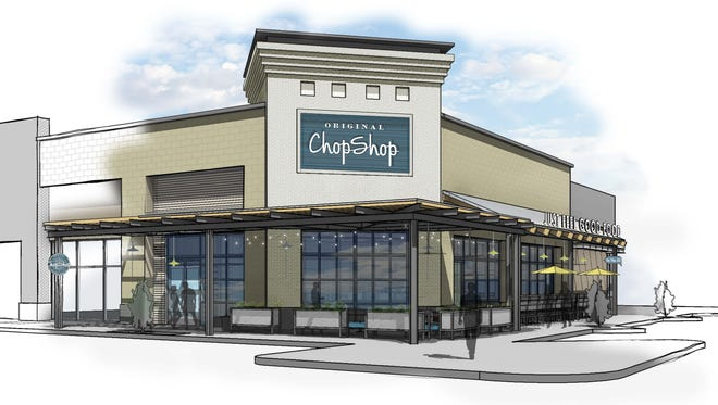 A rendering of Original ChopShop's fourth location, opening in April in Queen Creek.