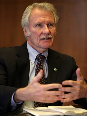 Gov. John Kitzhaber talks with the Statesman Journal at the Capitol on Tuesday, Nov. 18, 2014 in Salem, Ore.