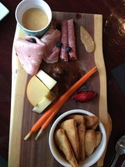 The charcuterie board at Rogue River Taproom was beautifully