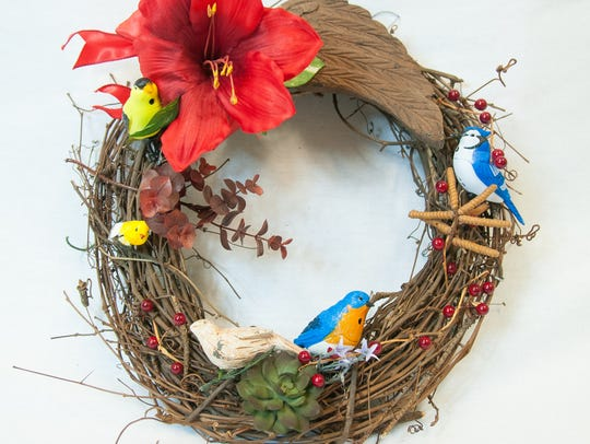 Customize wreaths to suit your personal style and decor.