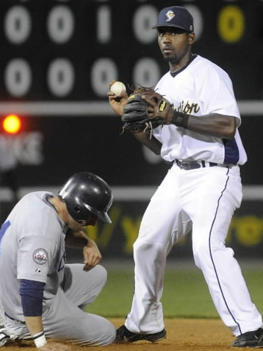 Andres Perez turned into one of the better defensive second basemen in the Atlantic League after working with the Revs coaching staff to change his throwing motion. (YDR file photo)