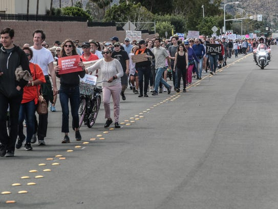Palm Springs March for Our Lives participants march