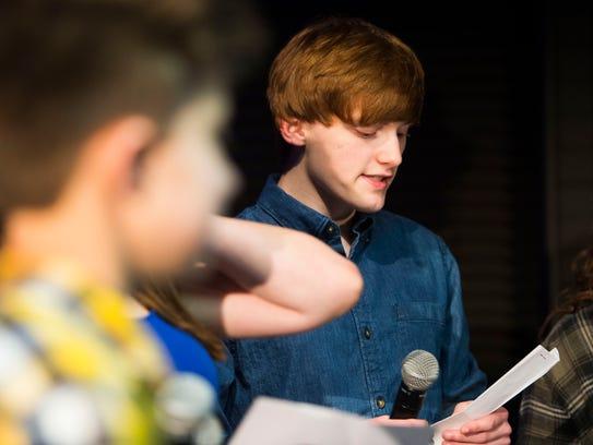 South Doyle High School student Adam McDaniel sings