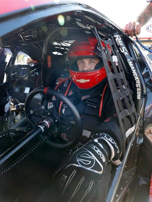 Pro Stock driver Drew Skillman waits in line to race during the Chevrolet Performance NHRA U.S. Nationals Sunday, September 4, 2016, afternoon at Lucas Oil Raceway in Brownsburg.