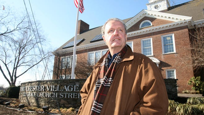 Joe Carvin, the Rye town supervisor, is photographed outside of the town's new offices in the Port Chester Village Hall, Jan 23, 2015.