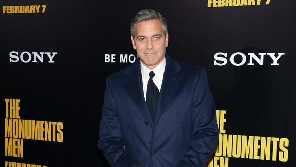 George Clooney feb 2 2014 Monuments Men open USA Today