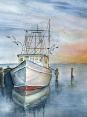 """""""Working Day's End"""" watercolor by Jane Waschick. Another"""