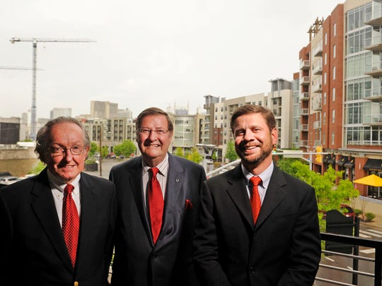 Joe Barker, left, Steve Turner and Jay Turner, right, helped shape the Gulch into the booming urban neighborhood it is today.