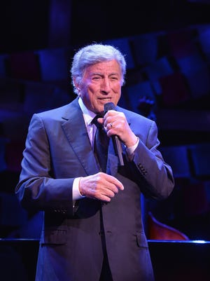Tony Bennett performs onstage at the SeriousFun Children's Network Gala at Cipriani 42nd Street on April 2 in New York City.