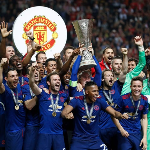 Manchester United's Europa League win brings smile to city