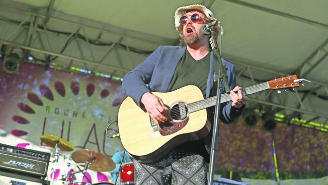 Rusted Root frontman Michael Glabicki played at the Rochester Lilac Festival in 2017.