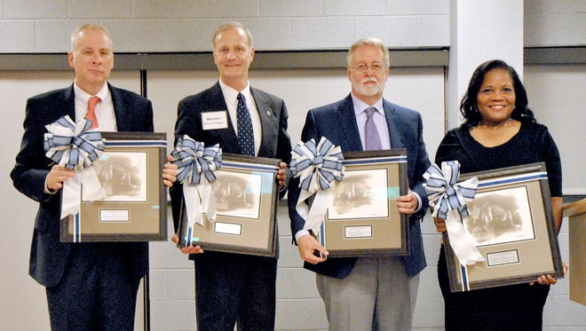 Award winners are pictured, from left: Carlton (Andy) Klinger, Martin Ciccocioppo, Daniel Fichtner, and Ophelia Chambliss.