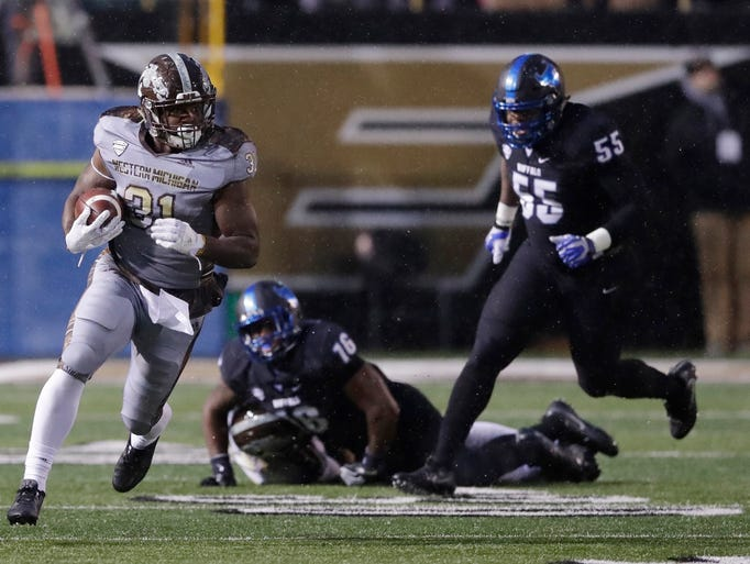 Western Michigan running back Jarvion Franklin (31)