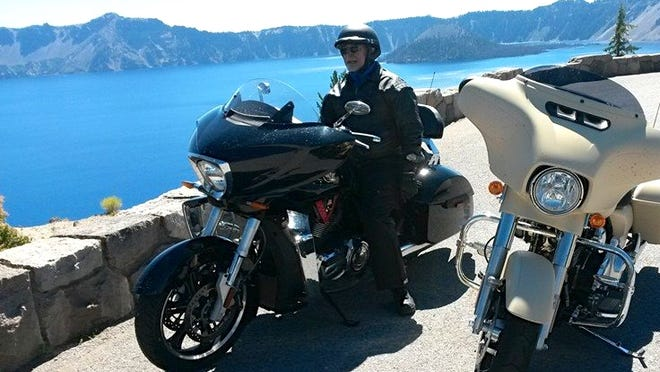 Bill Chamberland, 73, at Crater Lake in September 2014.
