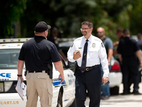 Stuart Police Chief David Dyess, seen in this file photo taken June 13, 2017, might be chosen as Stuart's interim city manager.