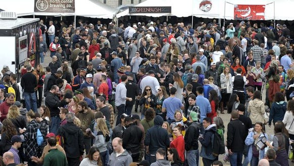 Thousands of beer lovers crowded Eastern Market in