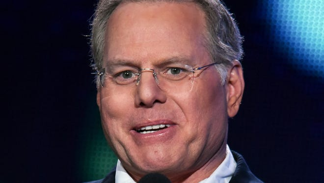 David Zaslav, president and CEO of Discovery Communications, appears on stage at Discovery Communications 2015 Winter TCA in Pasadena, Calif., on Jan. 8, 2015. Zaslav was one of the highest paid CEOs in 2016.