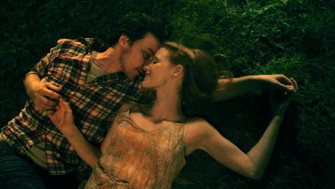 "James McAvoy and Jessica Chastain in ""The Disappearance of Eleanor Rigby: Them."""