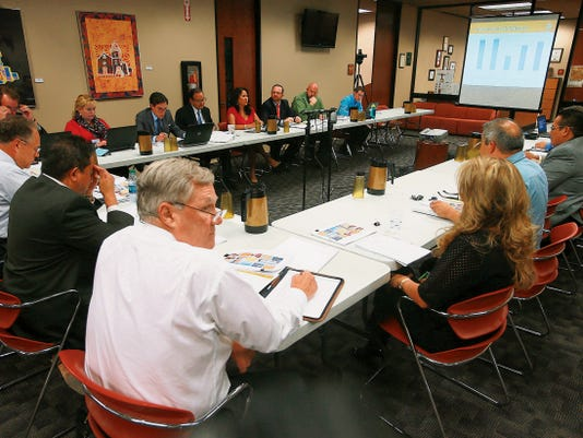 VICTOR CALZADA-EL PASO TIMES El Paso County commissioners court listened to a presentation by University Medical Center representatives Wednesday.