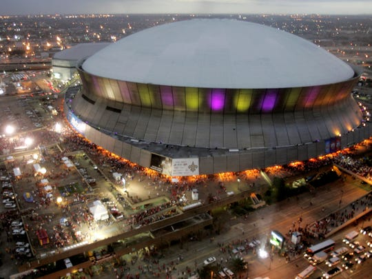The Superdome in New Orleans has hosted seven Super Bowls, including one when the lights went out in 2013.