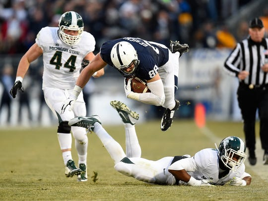 STATE COLLEGE, PA - NOVEMBER 29:  Mike Gesicki #88