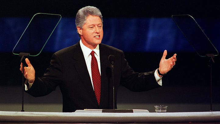 Bill  Clinton speaks at the Democratic National Convention