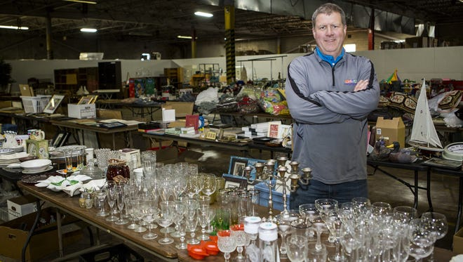 Richard Bastian, owner of Organizational Bootcamp, will hold a two-day garage sale at the company's New Castle warehouse this weekend.