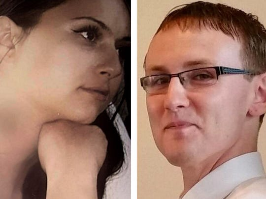 Kristina Fiebrink (left), 38, and Michael Madden, 29,