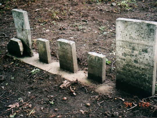 Tombstones from some of New Berlin's pioneers stand