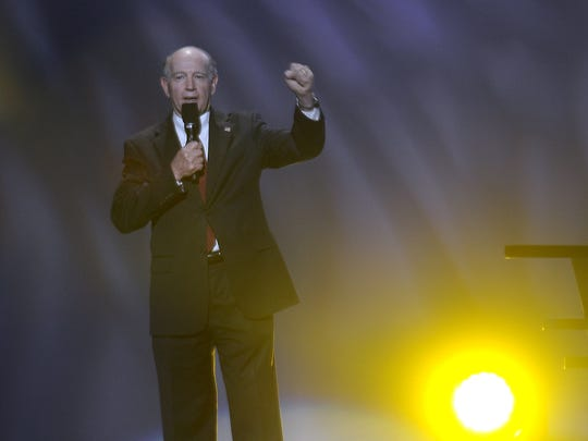 Bossier City Lo Walker speaks at the opening of the