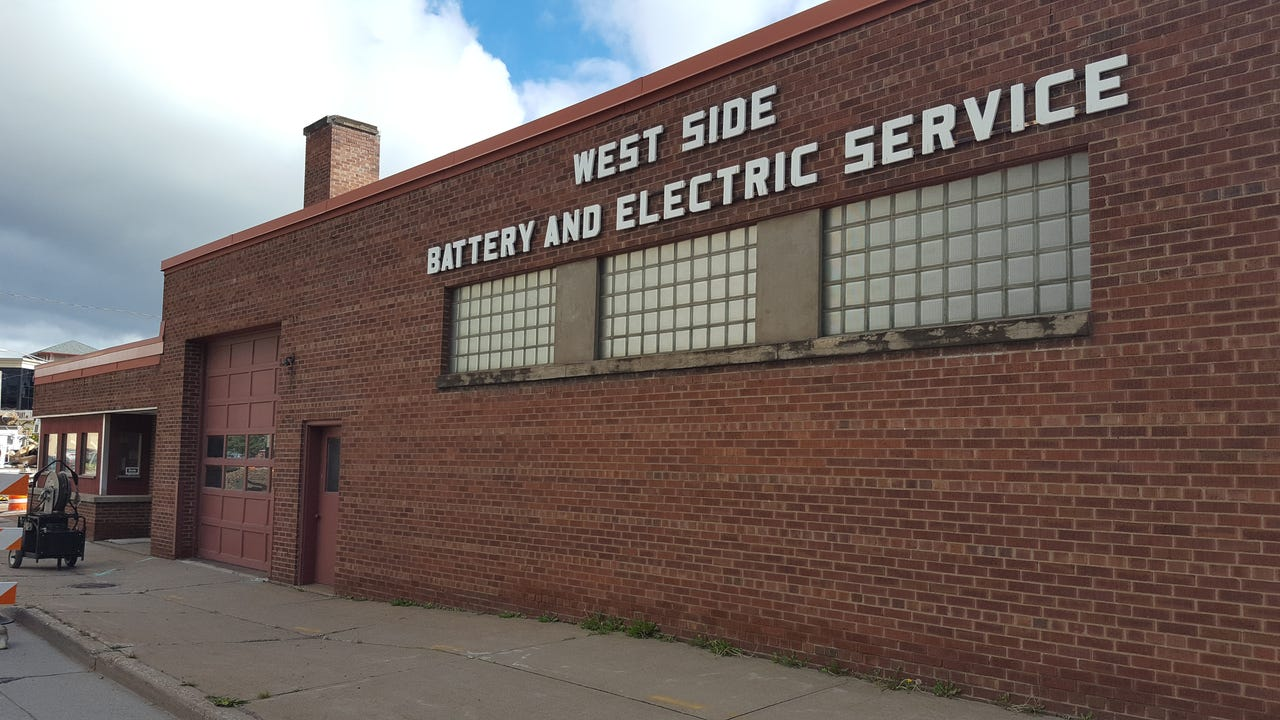 The West Side Battery and Electric Service building at Stewart and South First avenues could be converted into a new business or torn down for something bigger.