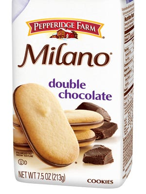 Pepperidge Farm Milano double chocolate cookies. Pepperidge Farm sued Trader Joe's for trademark infringement over a cookie product it says closely resembles Milano.
