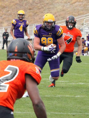 WNMU senior Matt Grieb will play in his final game as a Mustang this weekend. the tight end is from Temecula, Calif.