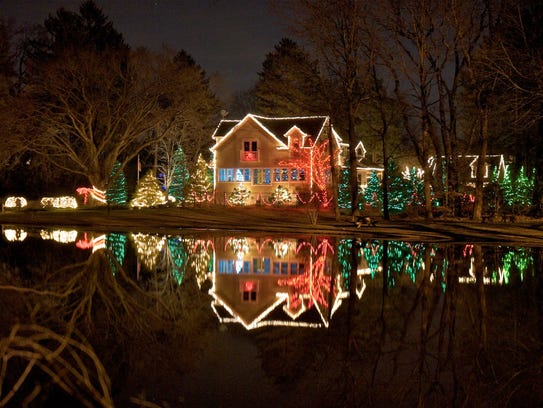 The beauty of a holiday-decorated home doubles when
