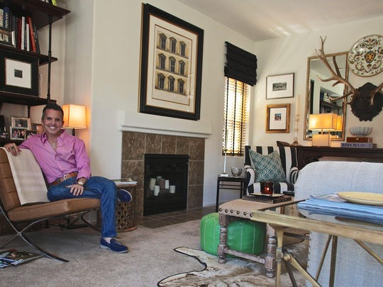 """Interior designer Dann Foley produces luxury outdoor furnishing for Skyline Design after appearing on the television show """"American Dream Builders"""" last year in his Palm Springs home on Tuesday."""