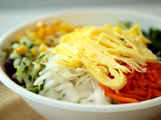 Bibibop serves Asian inspired bowls from ingredients chosen along an assembly line style menu.