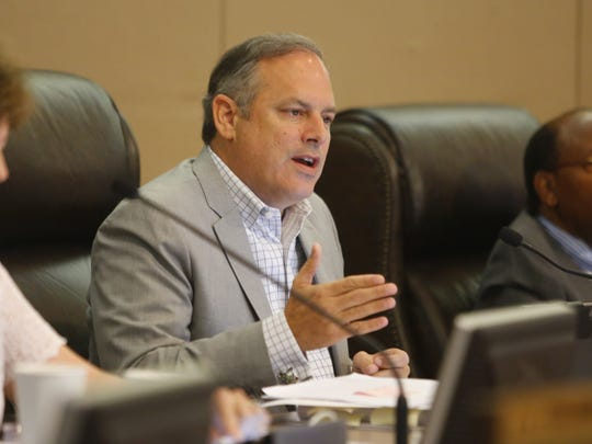 Tallahassee city commissioner Scott Maddox speaks at a City Commission meeting in City Hall on Monday, July 9th.