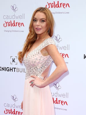 Lindsay Lohan posted about a finger injury on social media Sunday.