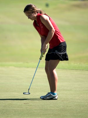 Pace High's Elise Schultz, shown completing in last year's Region 1-2A championship tournament, will represent the First Tee of Northwest Florida