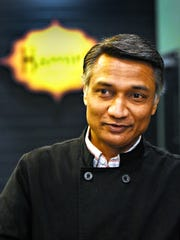 Hamir Patel, owner of Hamir's Indian Fusion, expresses gratitude and excitement to be one of 34 local eateries to participate in the eighth annual Restaurant Week York during a news conference at Hamir's Indian Fusion in York City, Thursday, Feb. 1, 2018. Restaurant Week runs Feb. 24-March 3 and includes regular menu items at special prices. Each establishment also will have a menu item that will be exclusively offered during the event. Dawn J. Sagert photo
