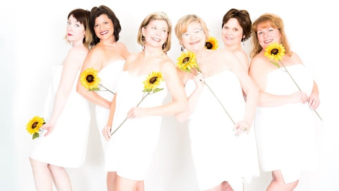"""Calendar Girls"" opens March 16 at Meadow Brook. The play is inspired by the story of a group of women who posed nudein 1999  for an English fund-raising calendar."